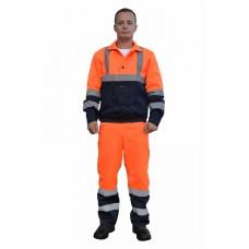 Костюм № 110 с СОП (ткань смесовая, оранжевый + синий)