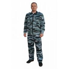 Костюм № 305 (ткань смесовая, КМФ синий)