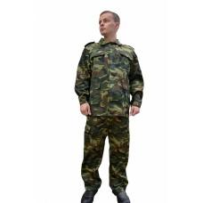 Костюм военно-полевой упрощенный (ткань смесовая, КМФ зеленый)