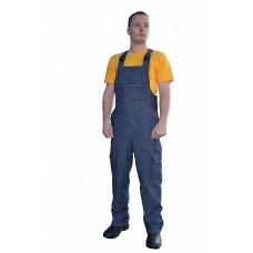 Полукомбинезон ПК-3-джинс (ткань джинсовая, синий)