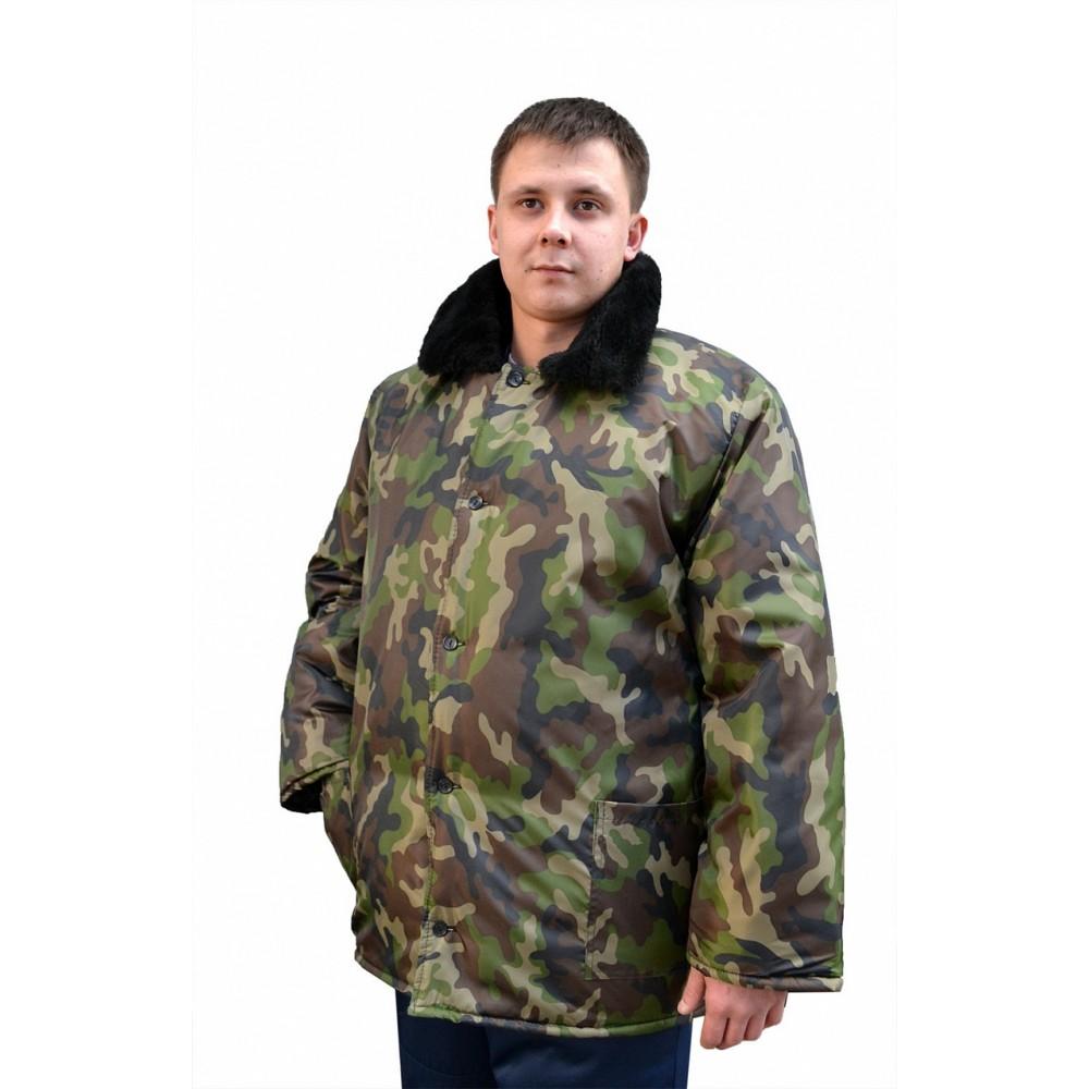 Куртка рабочая с м/в (ткань оксфорд, КМФ зеленый)