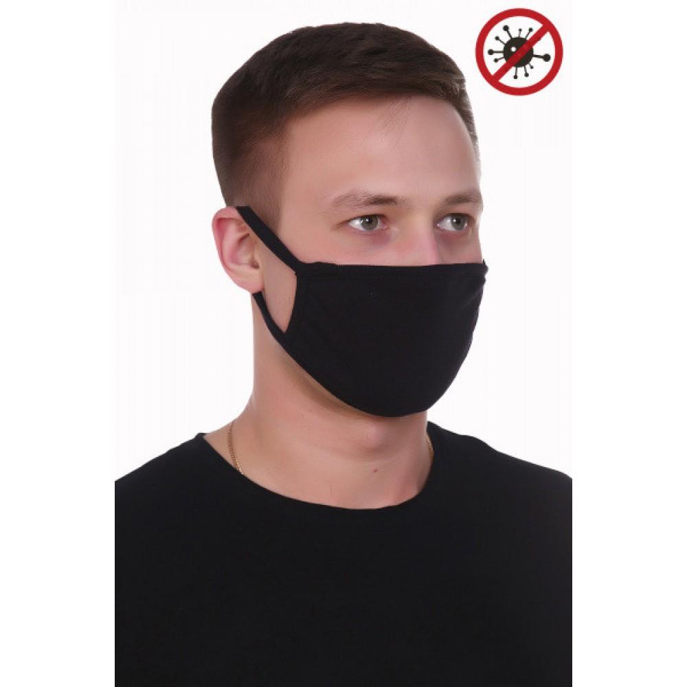 Защитная повязка на лицо* - Черная