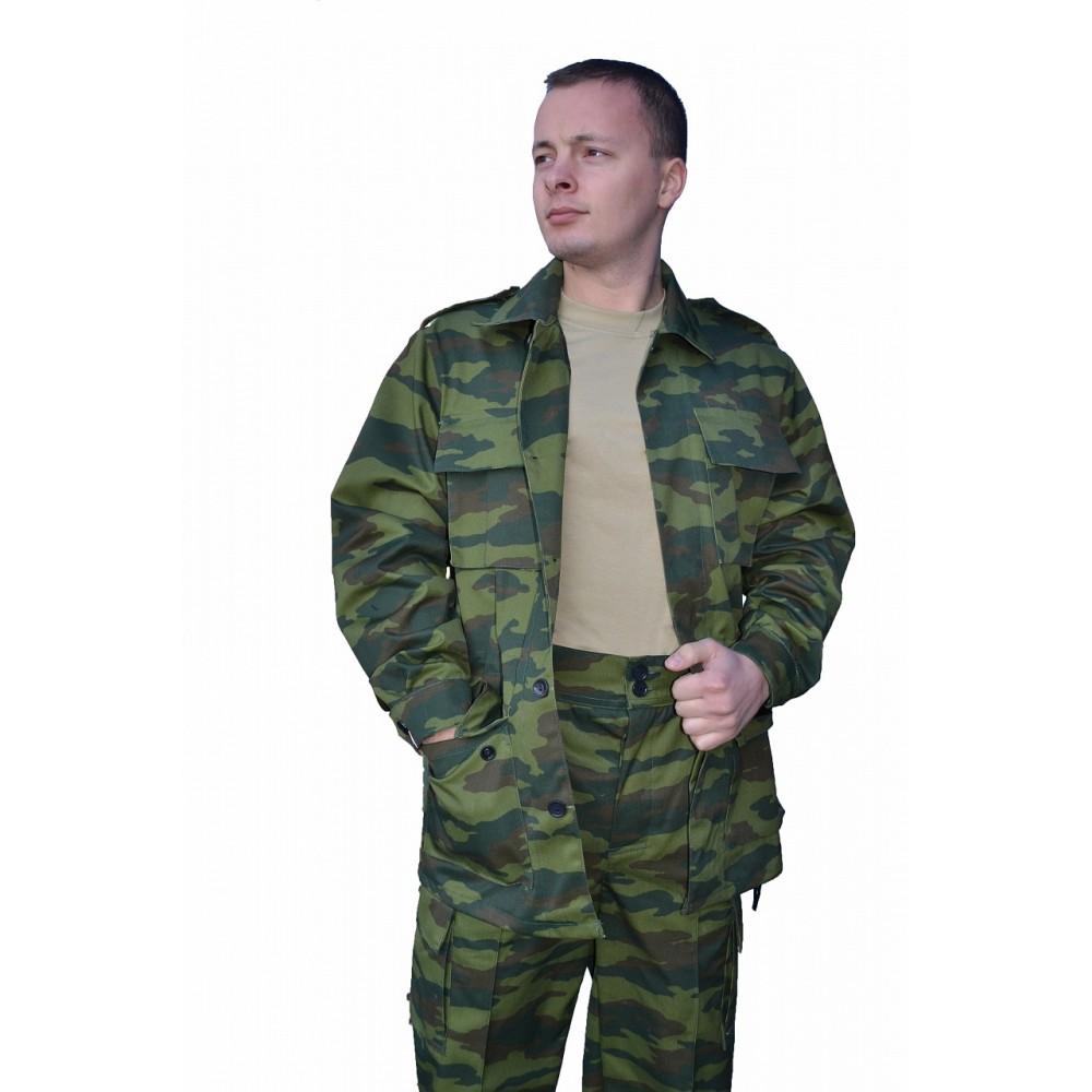 Костюм № 114 (ткань саржа, КМФ зеленый)