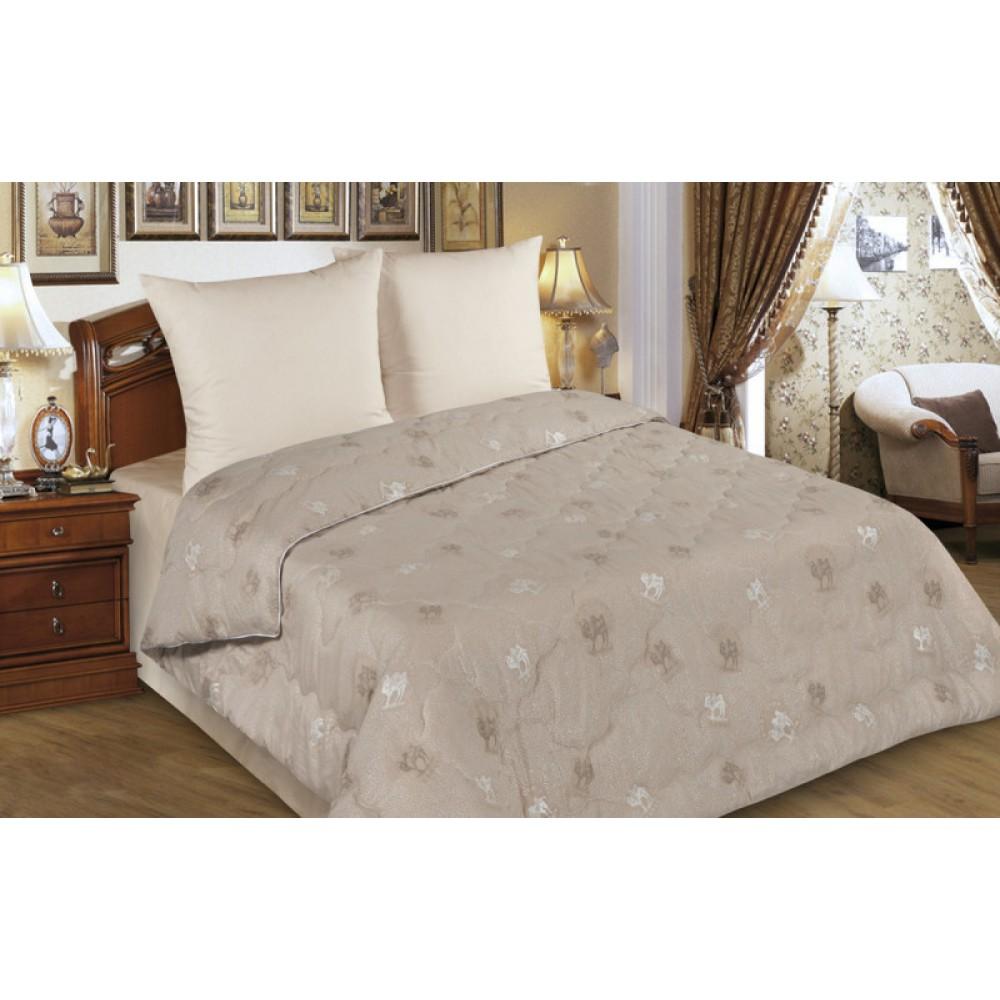 Одеяло облегченное верблюжья шерсть в тике 150 гр. ОТВШ-о