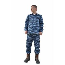 Костюм военно-полевой упрощенный (ткань смесовая, КМФ синий)