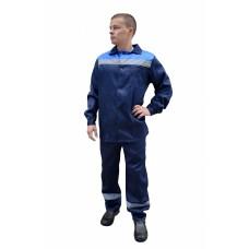 Костюм № 100 с СОП усиленный (ткань смесовая, синий + василек)