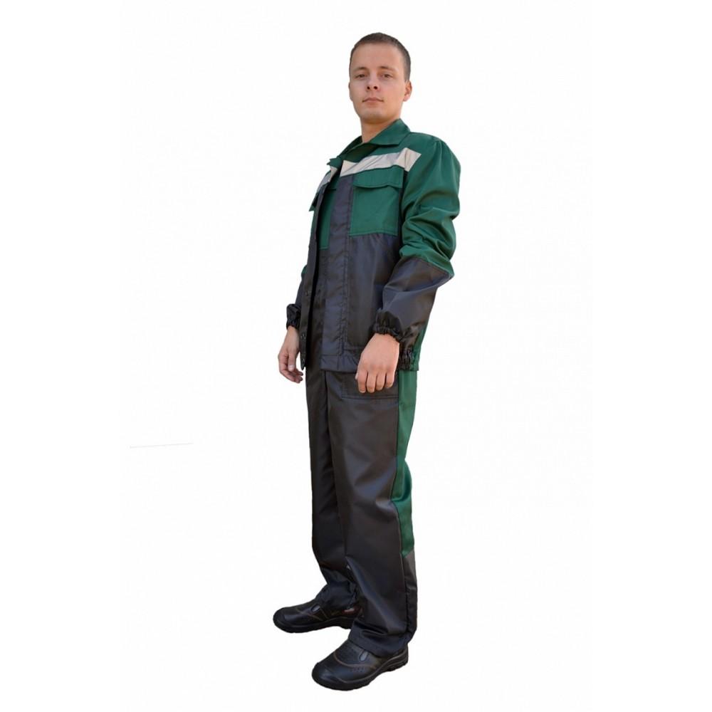Костюм №112 (ткань смесовая + оксфорд, зеленый+ черный)