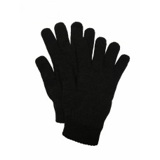 Перчатки полушерстяные чёрные