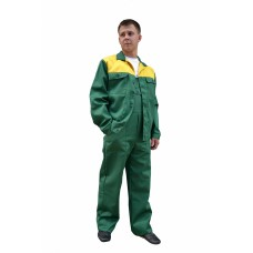 Костюм № 103 (ткань смесовая, зеленый + желтый)