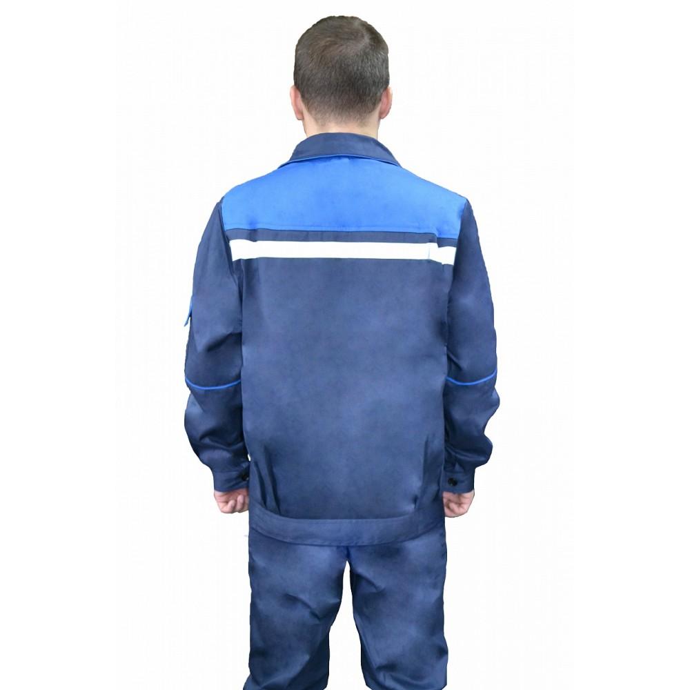 Костюм № 104 с СОП (ткань саржа, синий + василек)