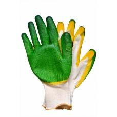 Перчатки х/б с латексным покрытием, двойной облив