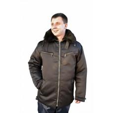 Куртка № У-351-1 (ткань смесовая, черный)