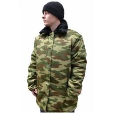 Куртка рабочая с м/в (ткань смесовая, КМФ зеленый)