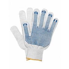 Перчатки 5 нитей 10 класс с ПВХ белые