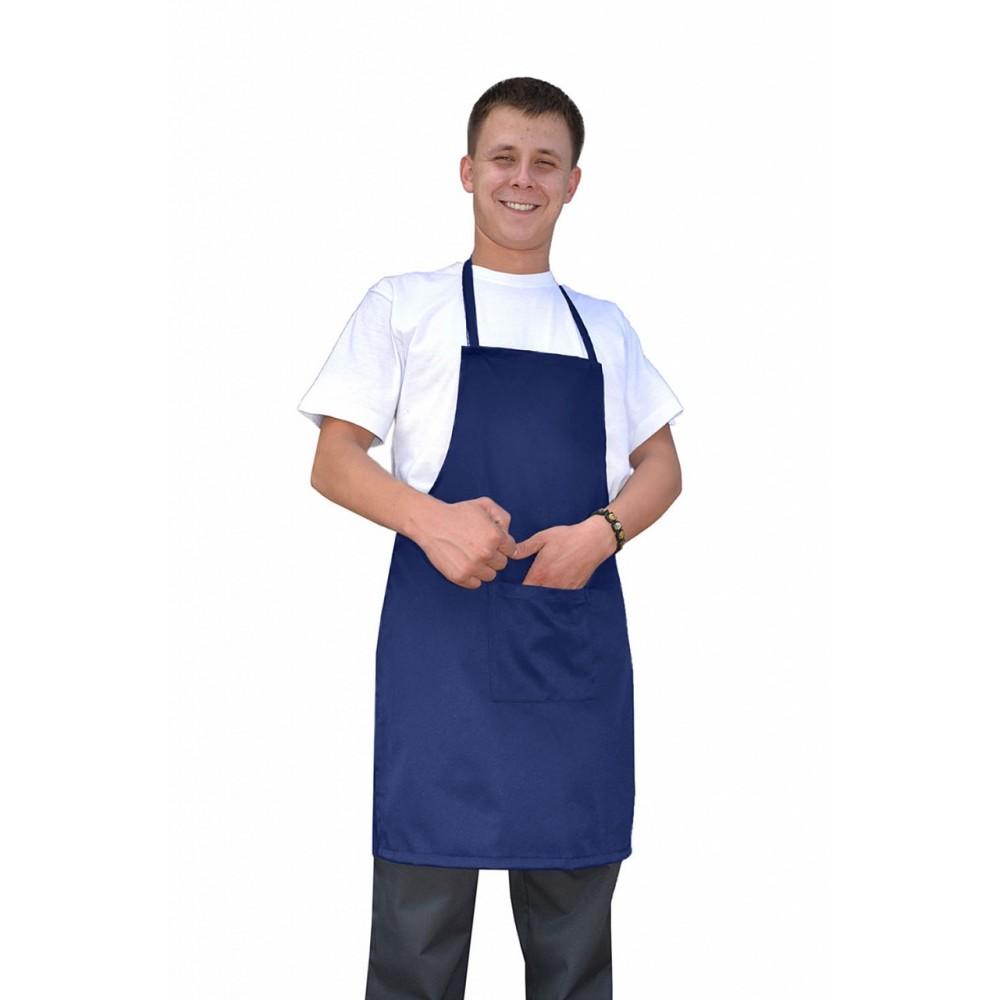 Фартук (ткань смесовая, синий)