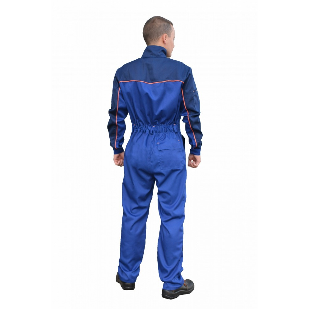 Комбинезон рабочий (ткань смесовая, василек + синий)
