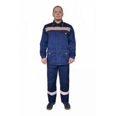 Костюм №117 с брюками с СОП (ткань смесовая, синий)