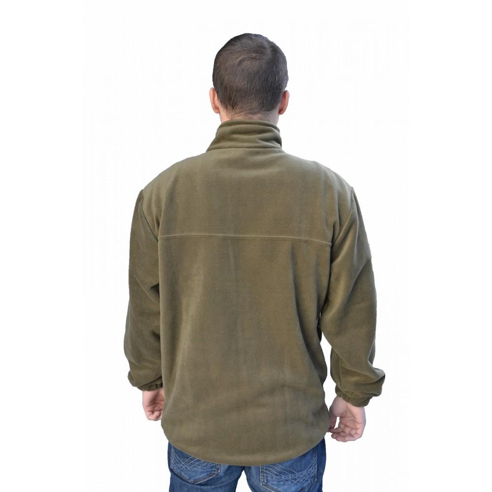 Куртка флисовая №2 без капюшона (Олива)